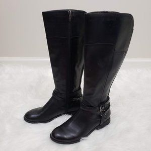 Marc Fisher Leather Tall Wide Calf Riding Boots